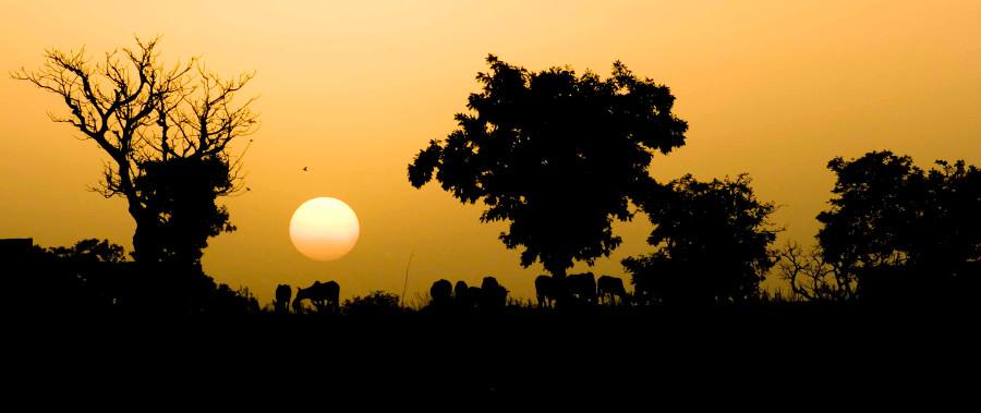 tramonto in Burkina